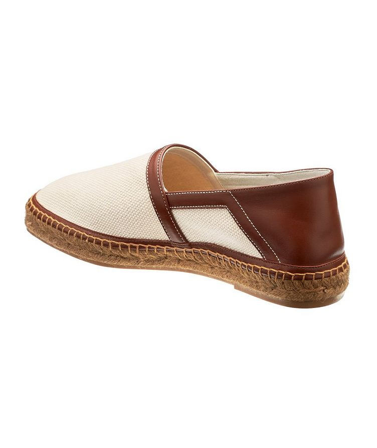 Barnes Canvas and Leather Espadrilles image 1