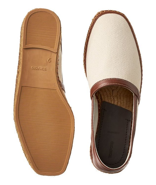 Barnes Canvas and Leather Espadrilles picture 3