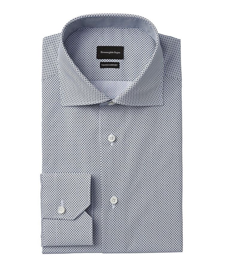 Slim-Fit Printed Trofeo Dress Shirt image 0