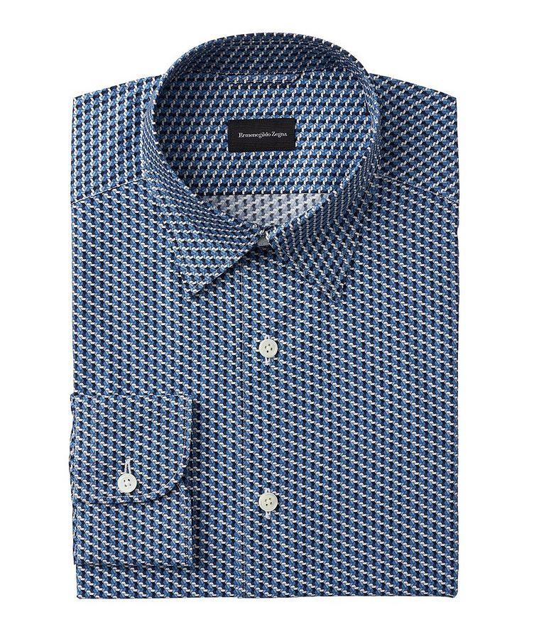 Slim-Fit Geometric Cotton Shirt image 0