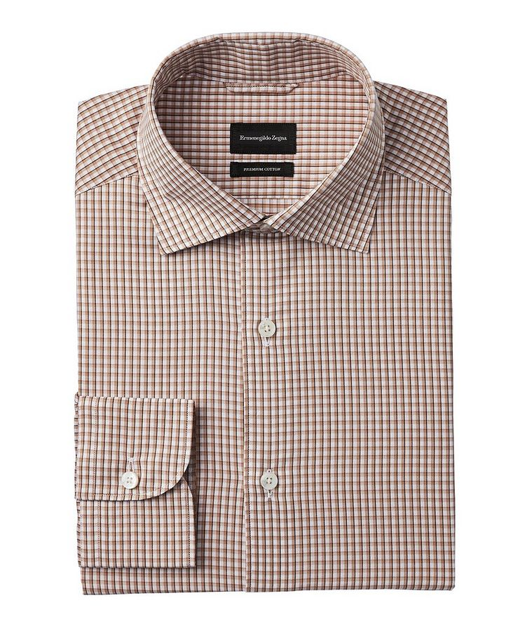 Slim-Fit Checked Cotton Shirt image 0
