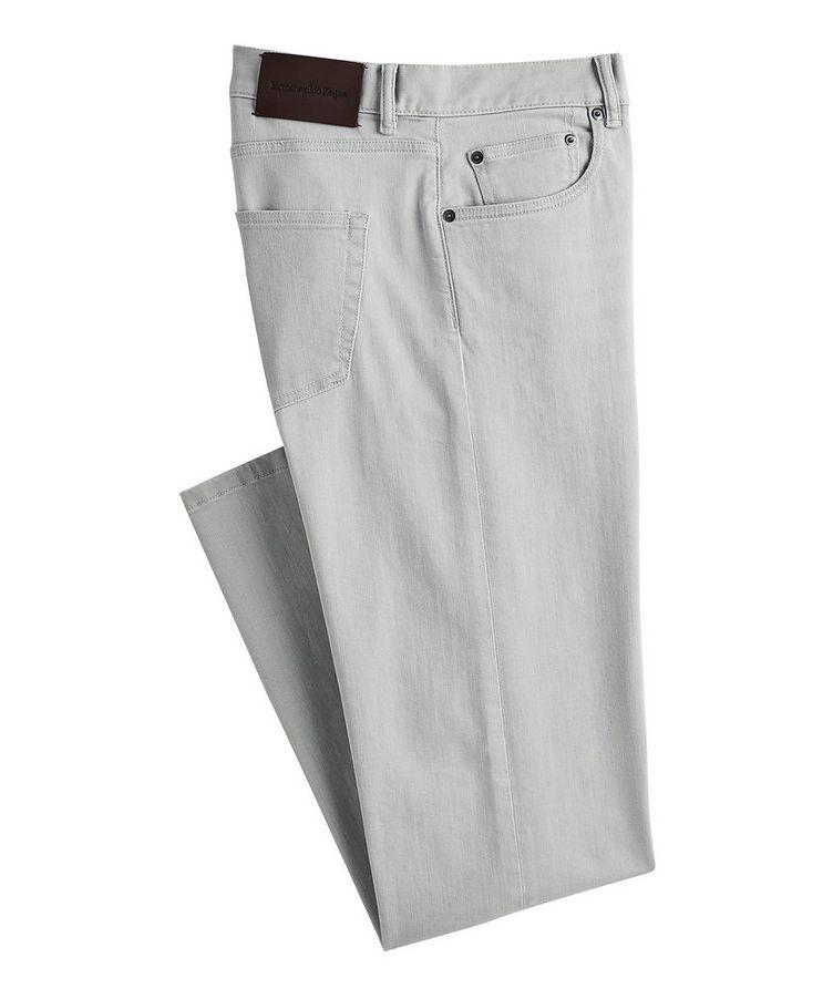 Slim-Fit Stretch-Cotton Pants image 0