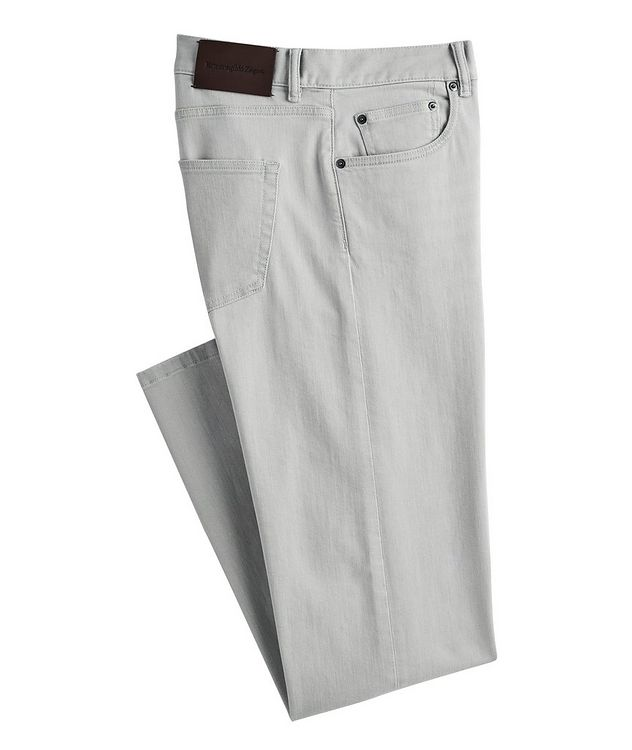 Slim-Fit Stretch-Cotton Pants picture 1