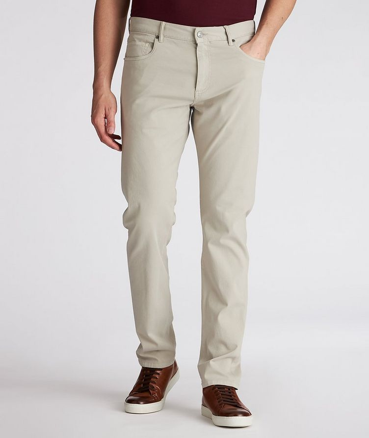 Straight-Fit Stretch-Cotton Jeans image 1