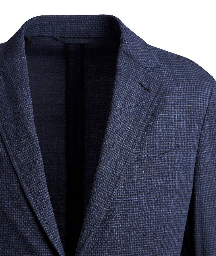 Seersucker Stretch-Wool, Silk, and Linen Sports Jacket image 1