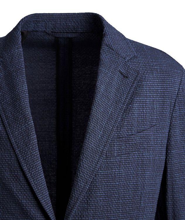 Seersucker Stretch-Wool, Silk, and Linen Sports Jacket picture 2