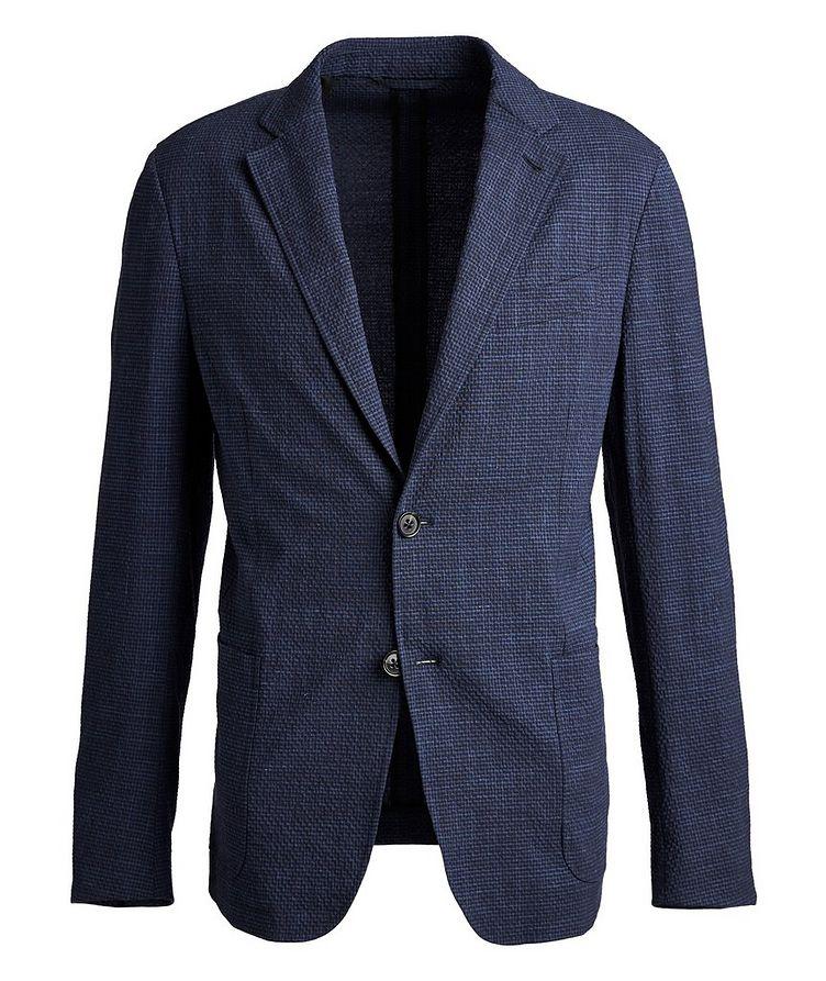 Seersucker Stretch-Wool, Silk, and Linen Sports Jacket image 0