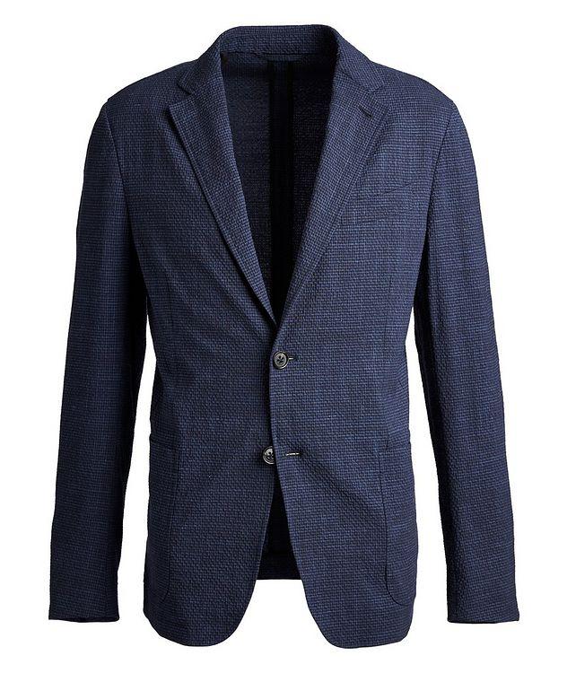 Seersucker Stretch-Wool, Silk, and Linen Sports Jacket picture 1