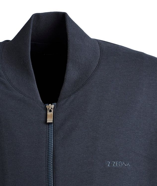 Zip-Up Cotton-Modal Track Jacket picture 3