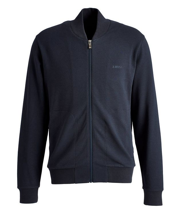 Zip-Up Cotton-Modal Track Jacket picture 1