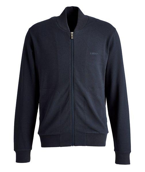 Z Zegna Zip-Up Cotton-Modal Track Jacket