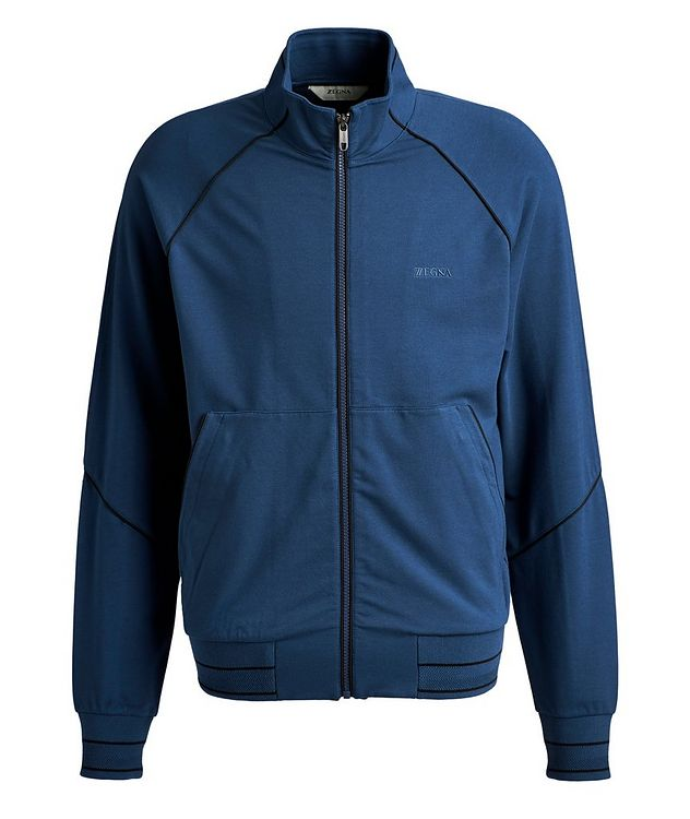 Cotton-Modal Full-Zip Track Top picture 1