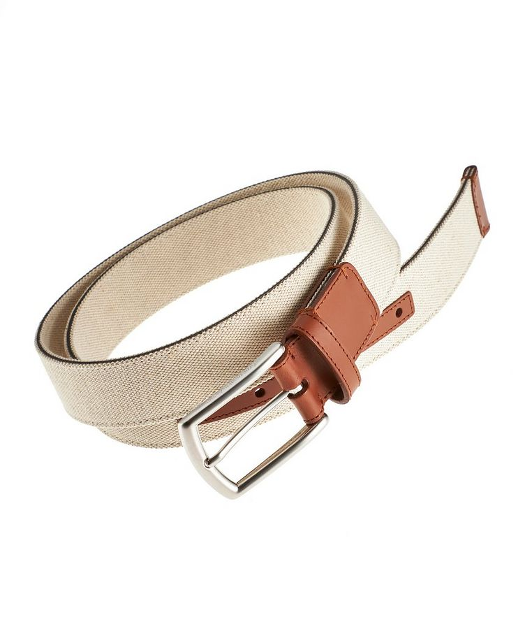 Canvas and Leather Belt image 0