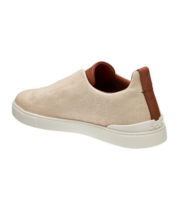 Triple Stitch Canvas Slip-On Sneakers image 1