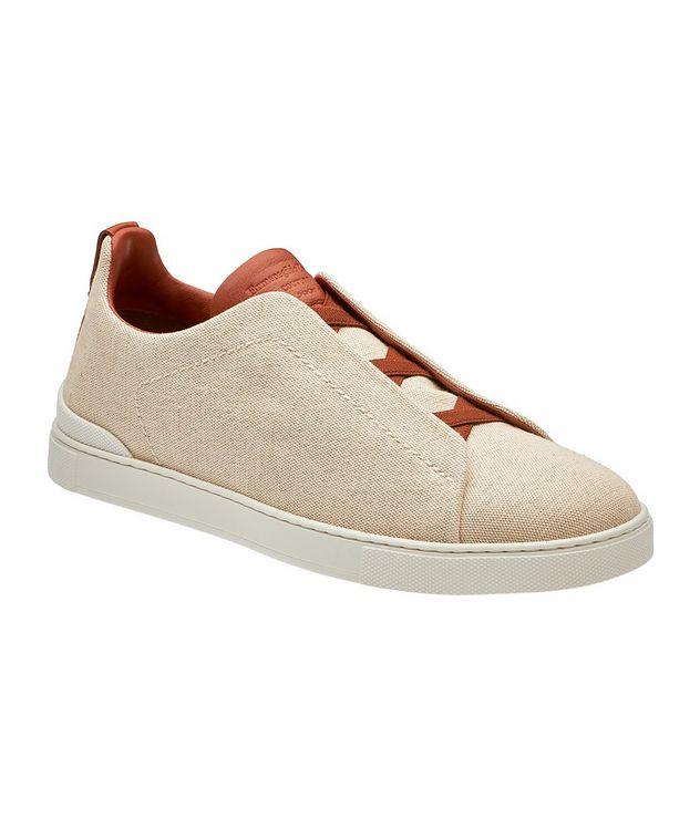Triple Stitch Canvas Slip-On Sneakers picture 1