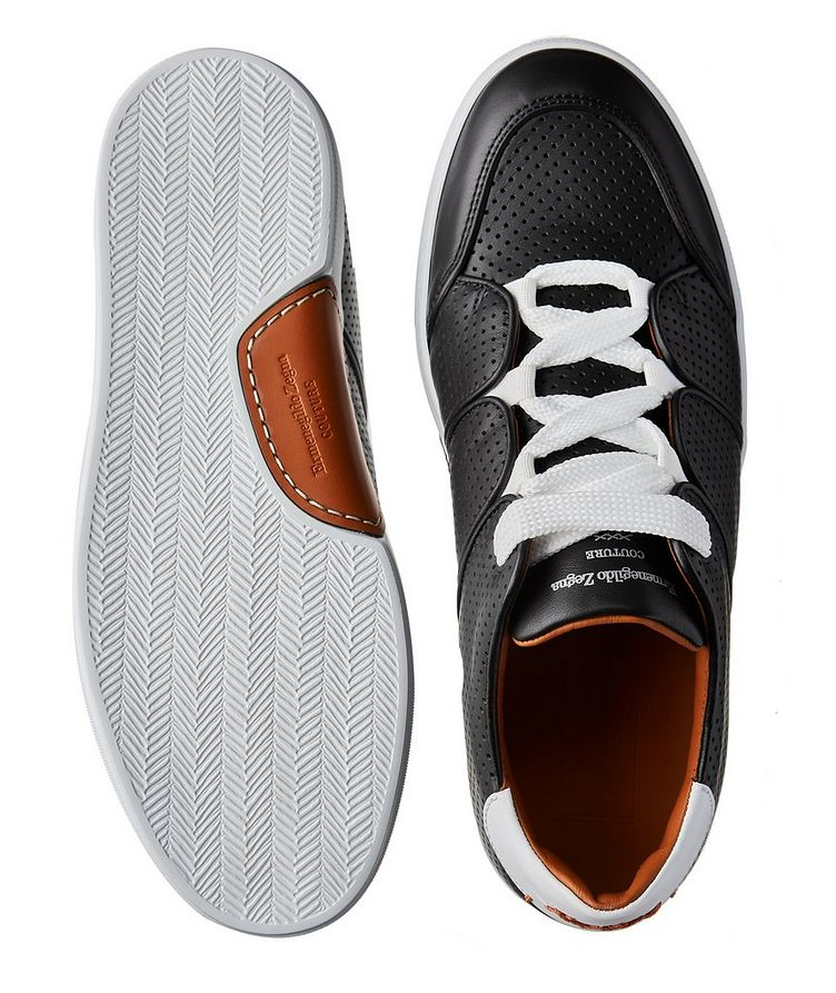 Couture Tiziano Perforated Calfskin Sneakers image 2