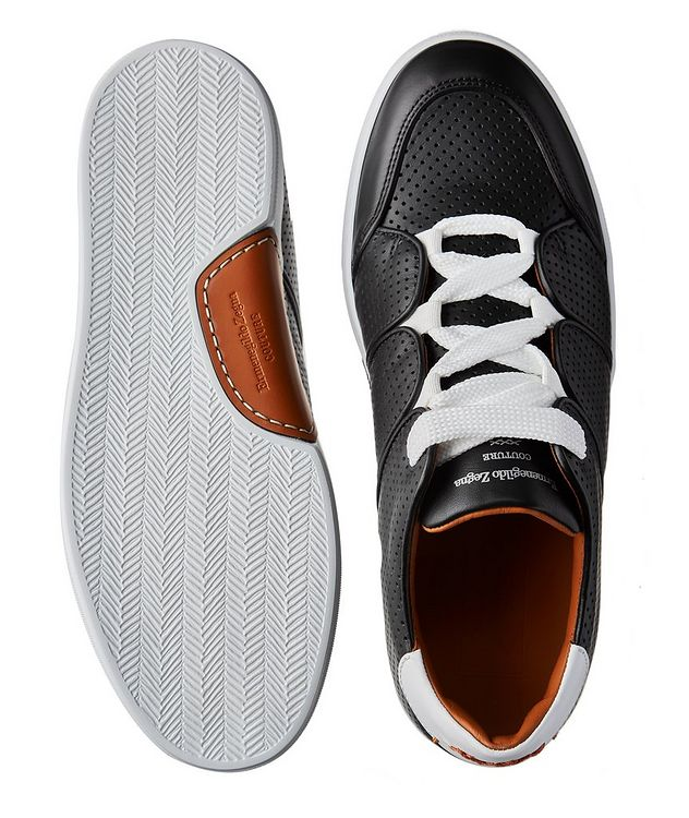 Couture Tiziano Perforated Calfskin Sneakers picture 3