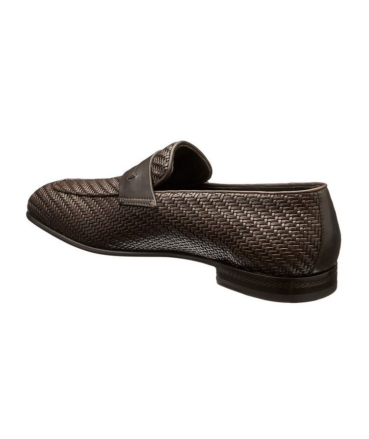 L'Asola Woven Leather Loafers image 1