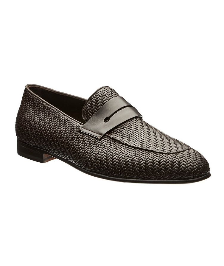 L'Asola Woven Leather Loafers image 0
