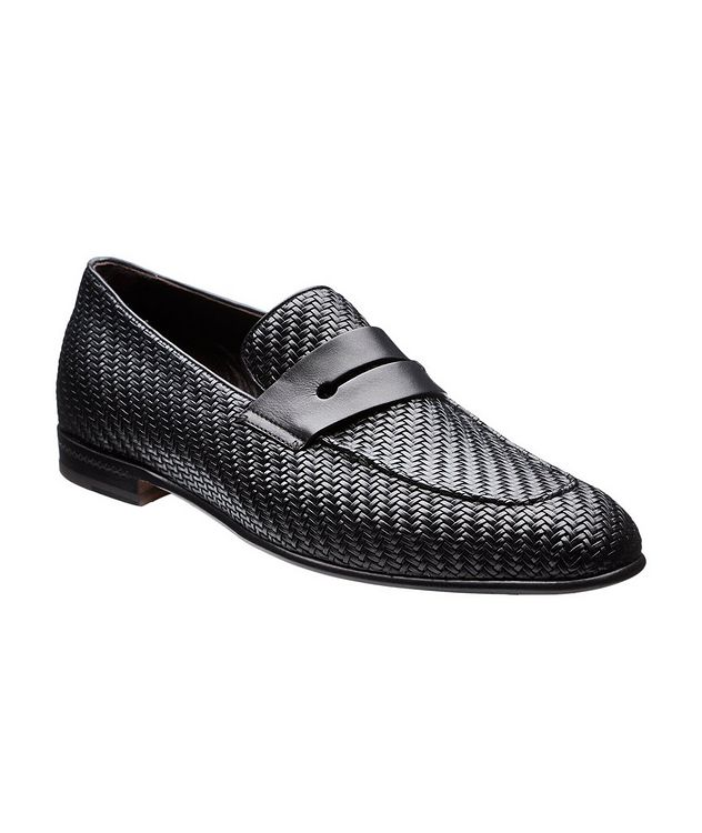 L'Asola Woven Leather Loafers picture 1