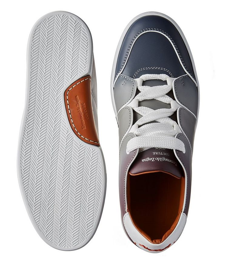 Chaussure sport Tiziano en cuir de veau, collection Couture image 2