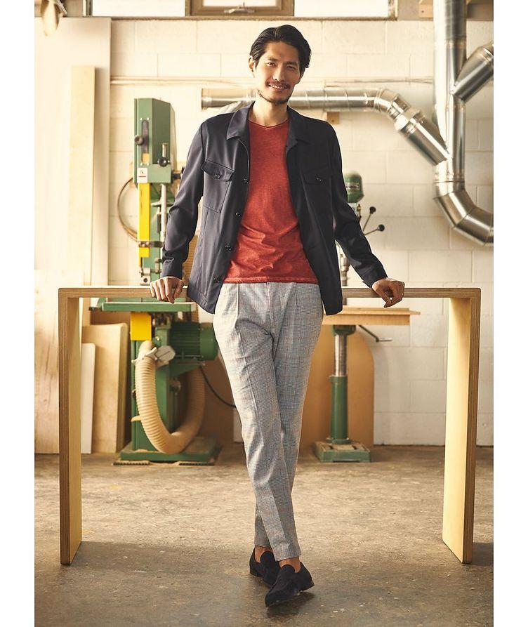 T-shirt Milo en coton pima à encolure en V image 1