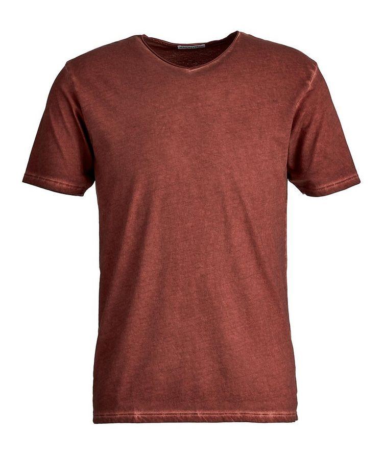 T-shirt Milo en coton pima à encolure en V image 0