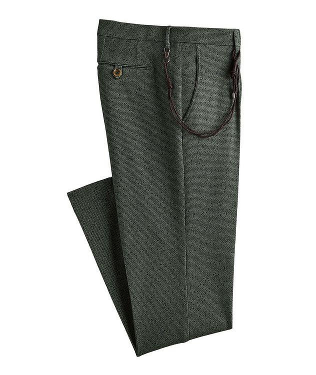 Morello Printed Cotton-Blend Dress Pants picture 1