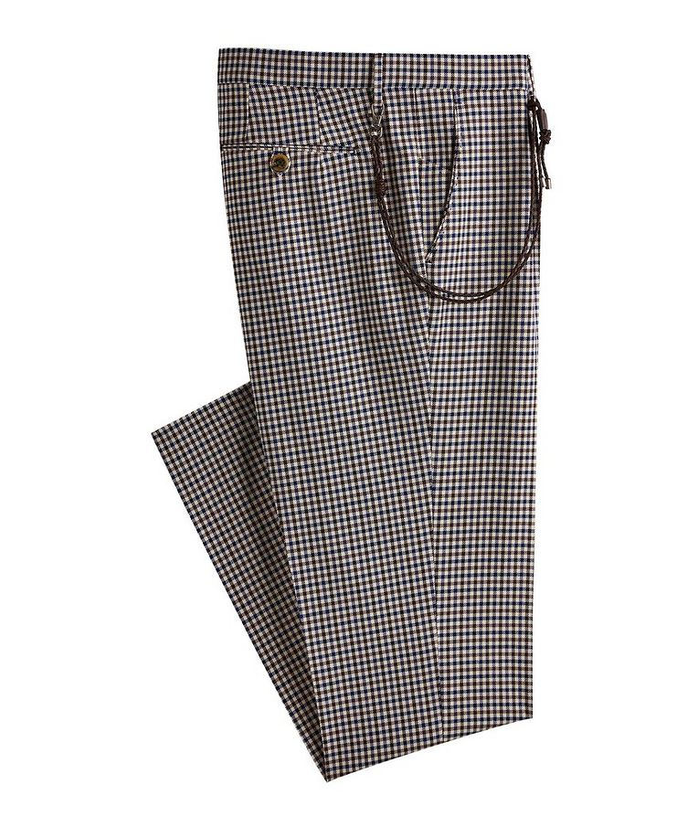 Morello Gingham Cotton Dress Pants image 0
