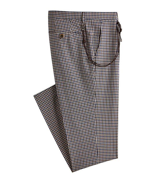 Morello Gingham Cotton Dress Pants picture 1