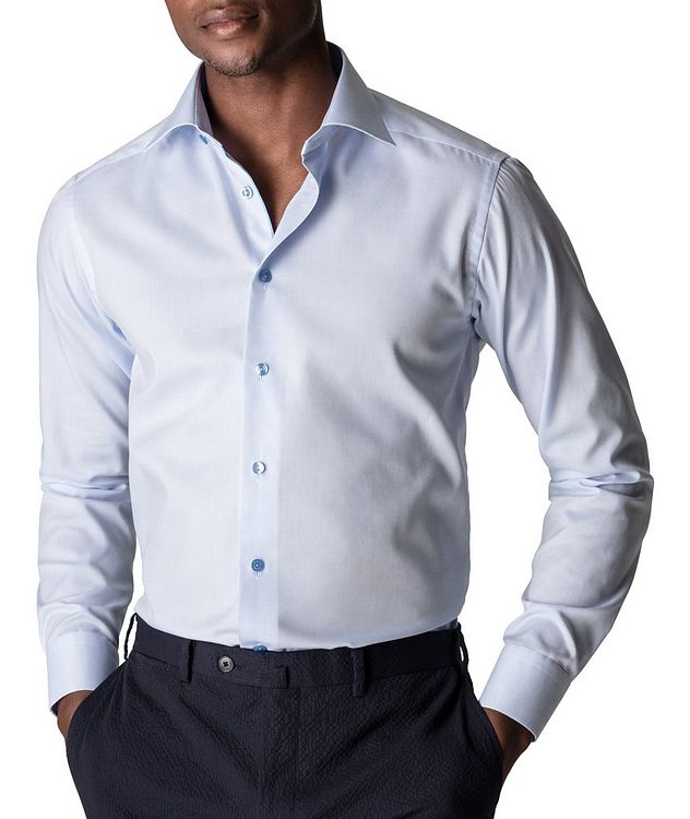 Slim-Fit Textured Dress Shirt picture 2