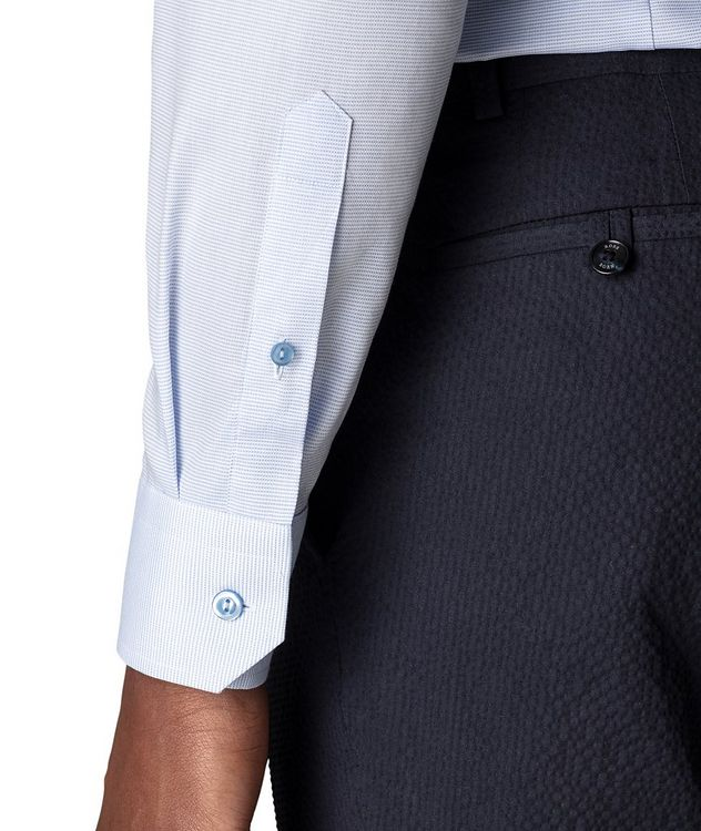 Slim-Fit Textured Dress Shirt picture 4
