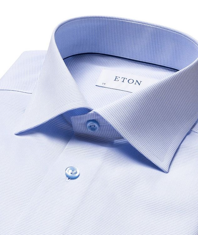 Slim-Fit Textured Dress Shirt picture 5