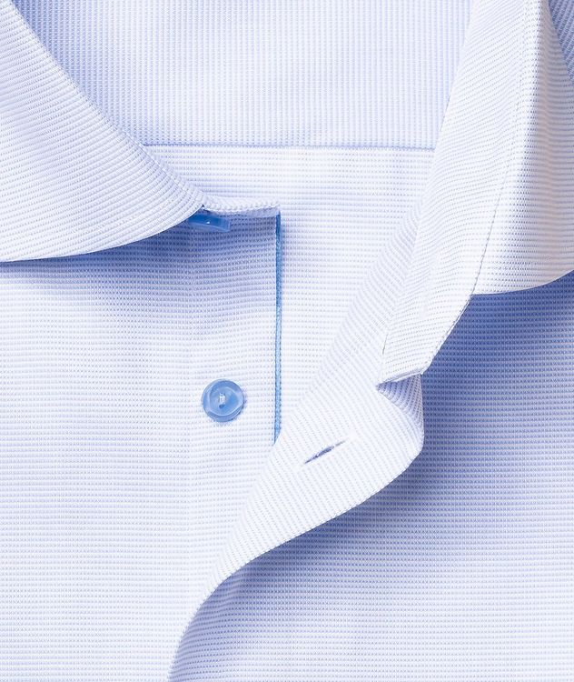 Slim-Fit Textured Dress Shirt picture 6