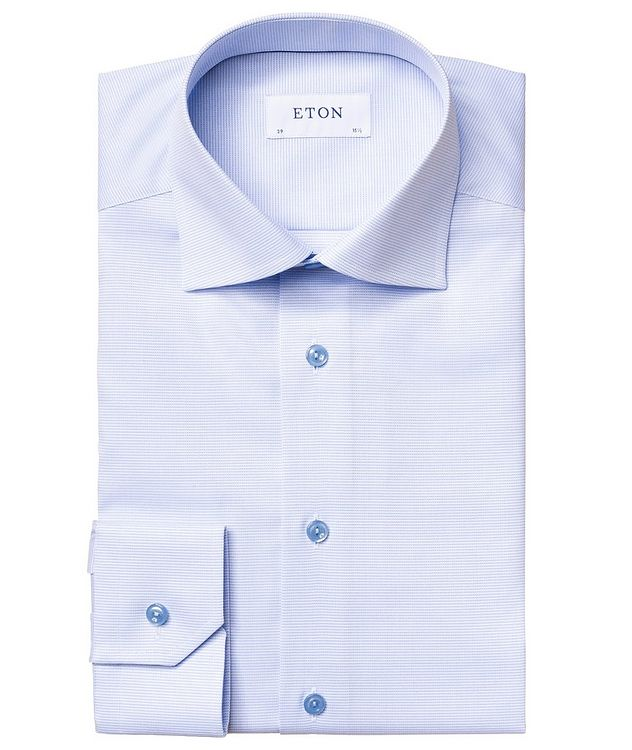Slim-Fit Textured Dress Shirt picture 1