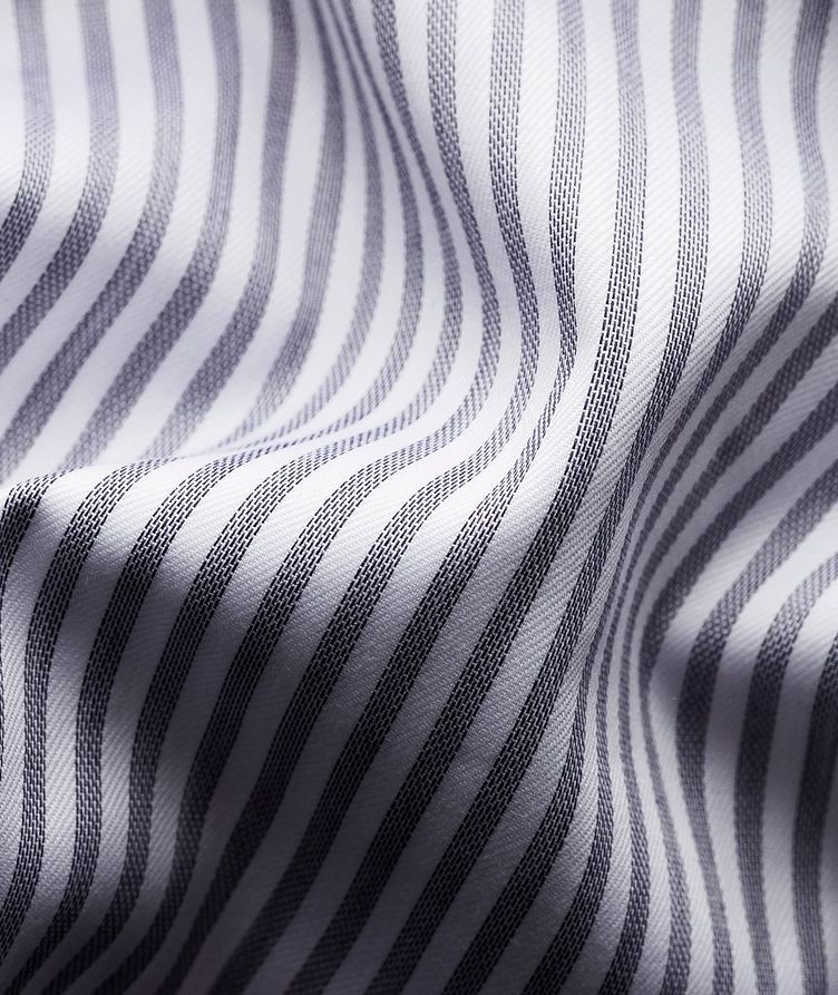 Slim Fit Striped Dress Shirt image 3