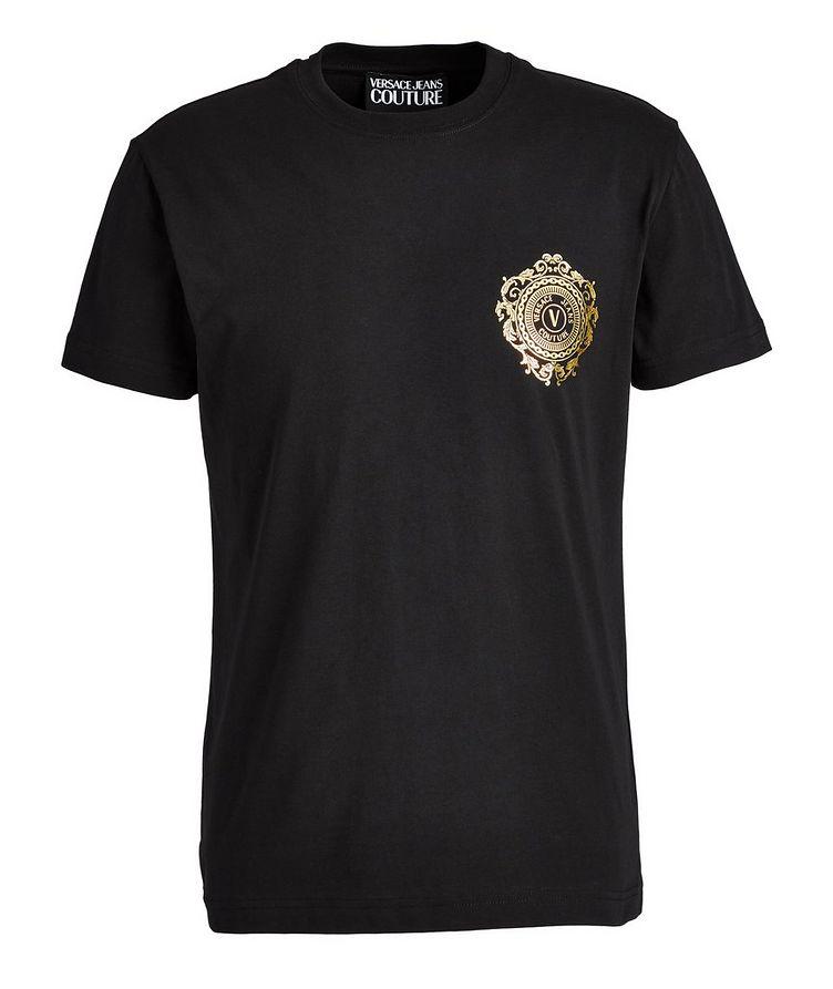 T-shirt en coton biologique avec logo métallisé image 0