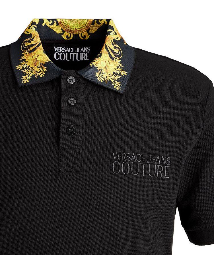 Slim-Fit Baroque Piqué Cotton Polo image 1