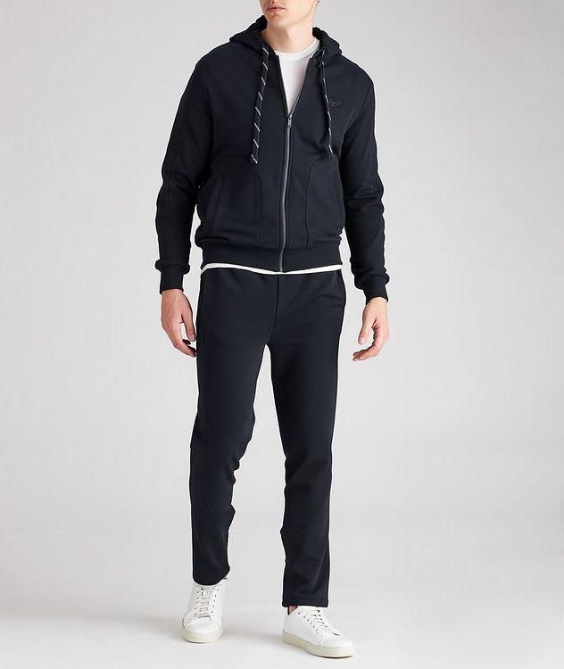 Stretch-Cotton Zip-Up Hoodie picture 4