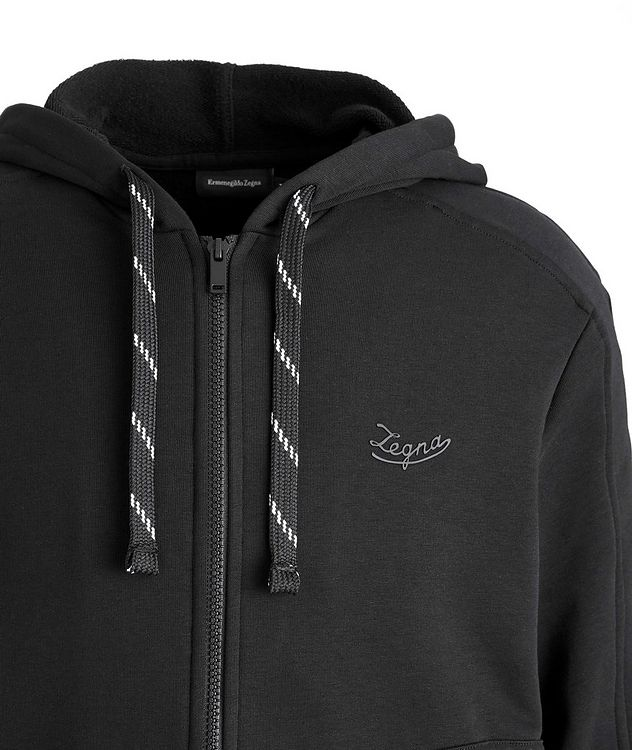 Stretch-Cotton Zip-Up Hoodie picture 3