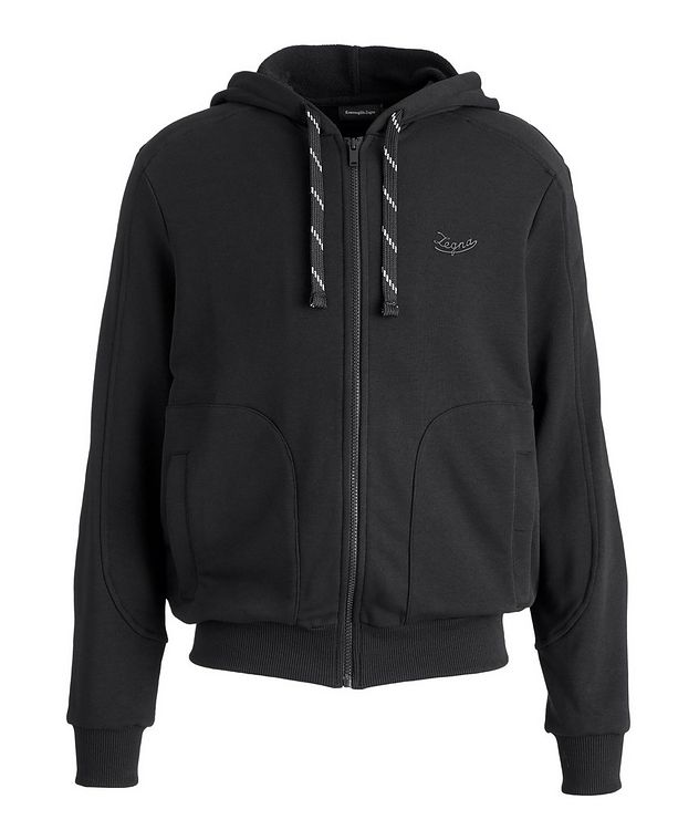 Stretch-Cotton Zip-Up Hoodie picture 1