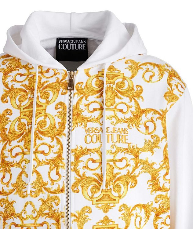 Baroque Cotton Terrycloth Zip-Up Hoodie picture 3