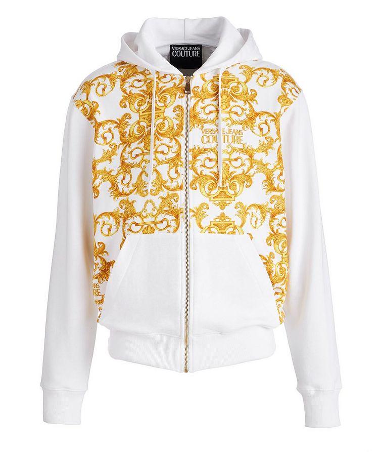 Baroque Cotton Terrycloth Zip-Up Hoodie image 0
