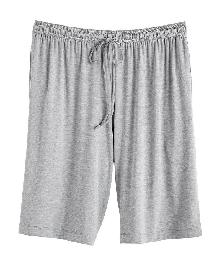 Short-Sleeve Stretch-Modal V-Neck Pyjamas image 1