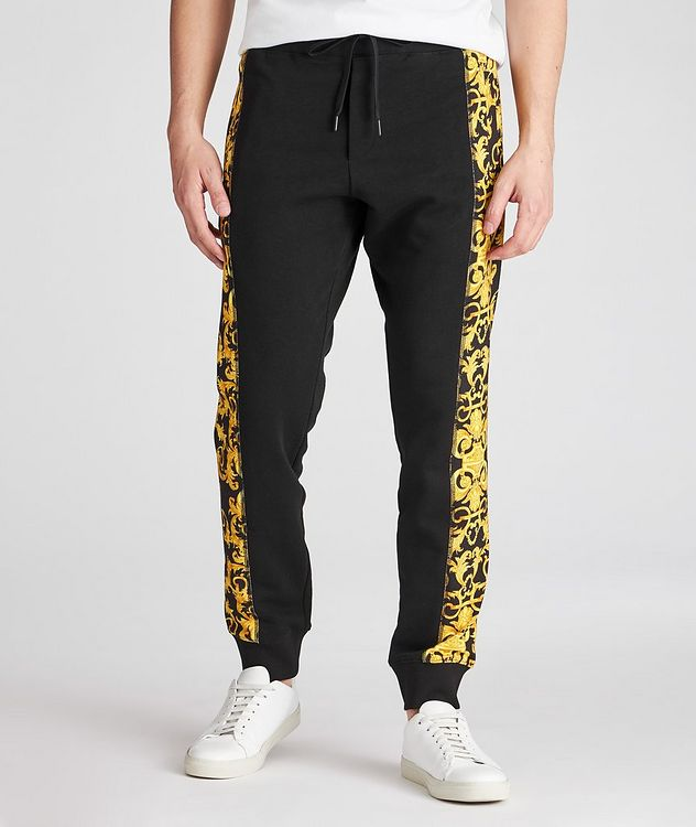 Cotton Terrycloth Baroque Joggers picture 2