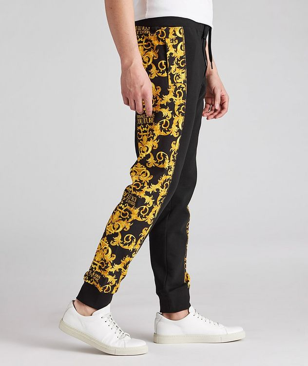 Cotton Terrycloth Baroque Joggers picture 3