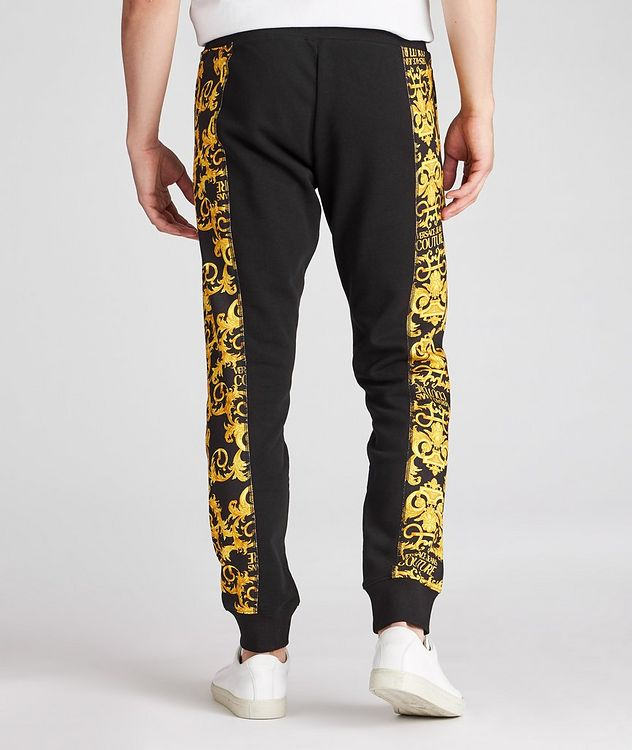 Cotton Terrycloth Baroque Joggers picture 4