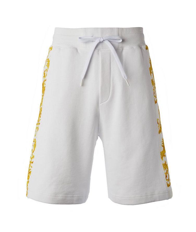 Cotton Terrycloth Baroque Shorts image 0