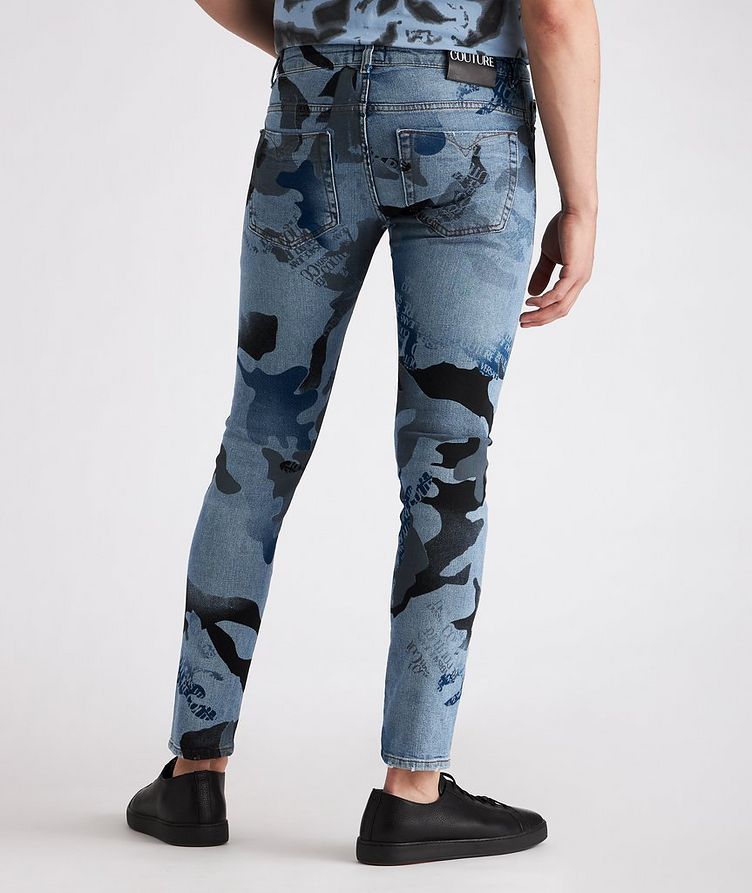 Slim-Fit Camouflage Stretch-Cotton Jeans image 2