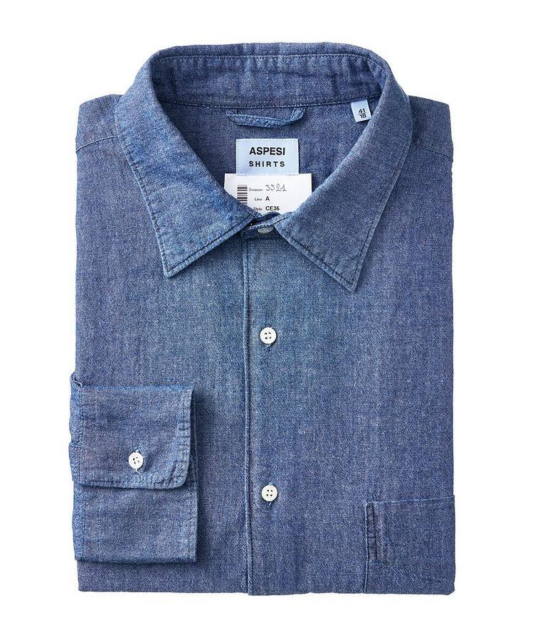 Slim-Fit Denim Shirt image 0